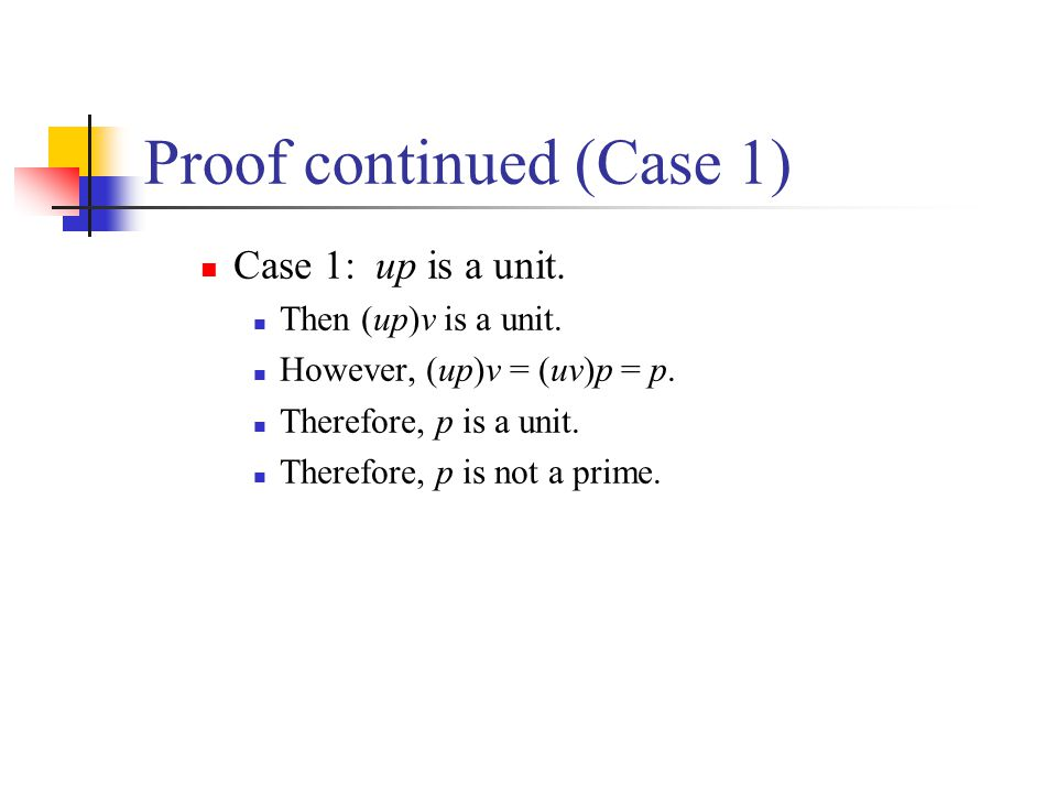 Proof continued (Case 1)