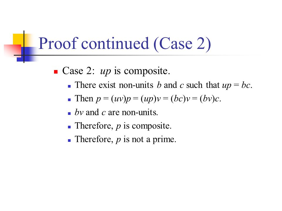 Proof continued (Case 2)