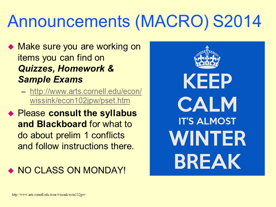 Announcements (MACRO) S2014