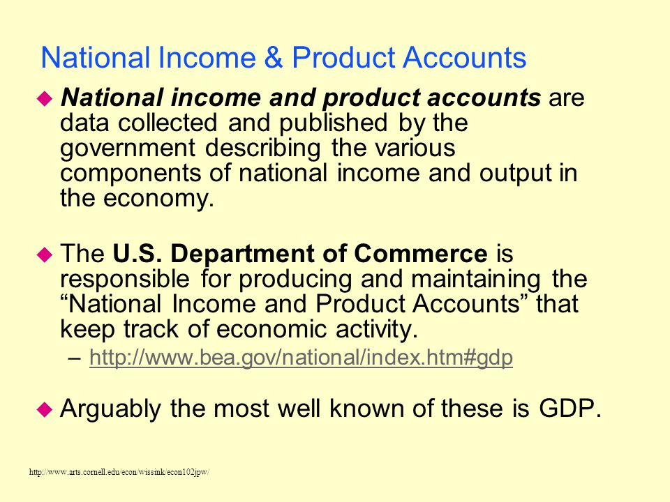National Income & Product Accounts