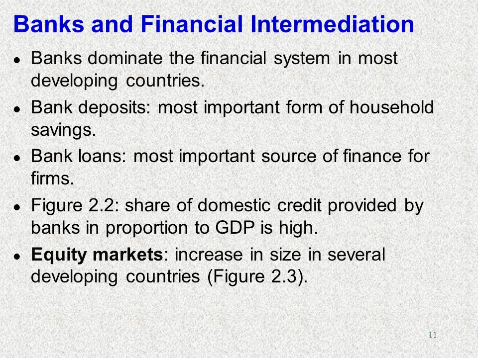 Banks and Financial Intermediation