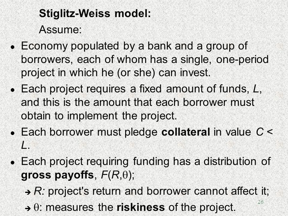 Stiglitz-Weiss model: