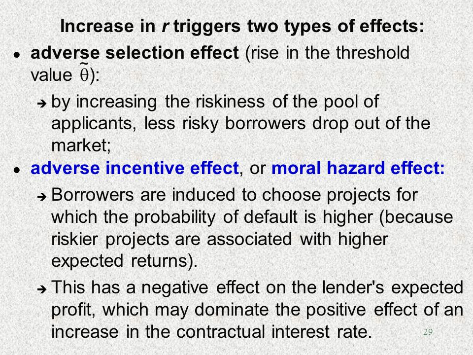 Increase in r triggers two types of effects: