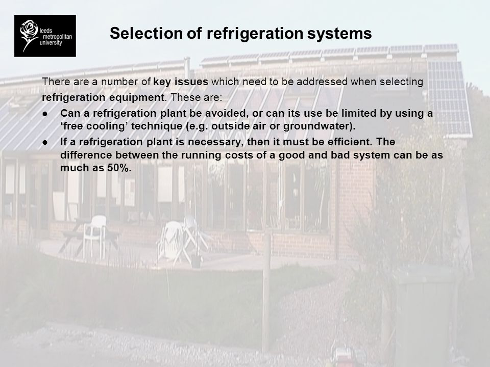 difference between refrigeration and cooling pdf