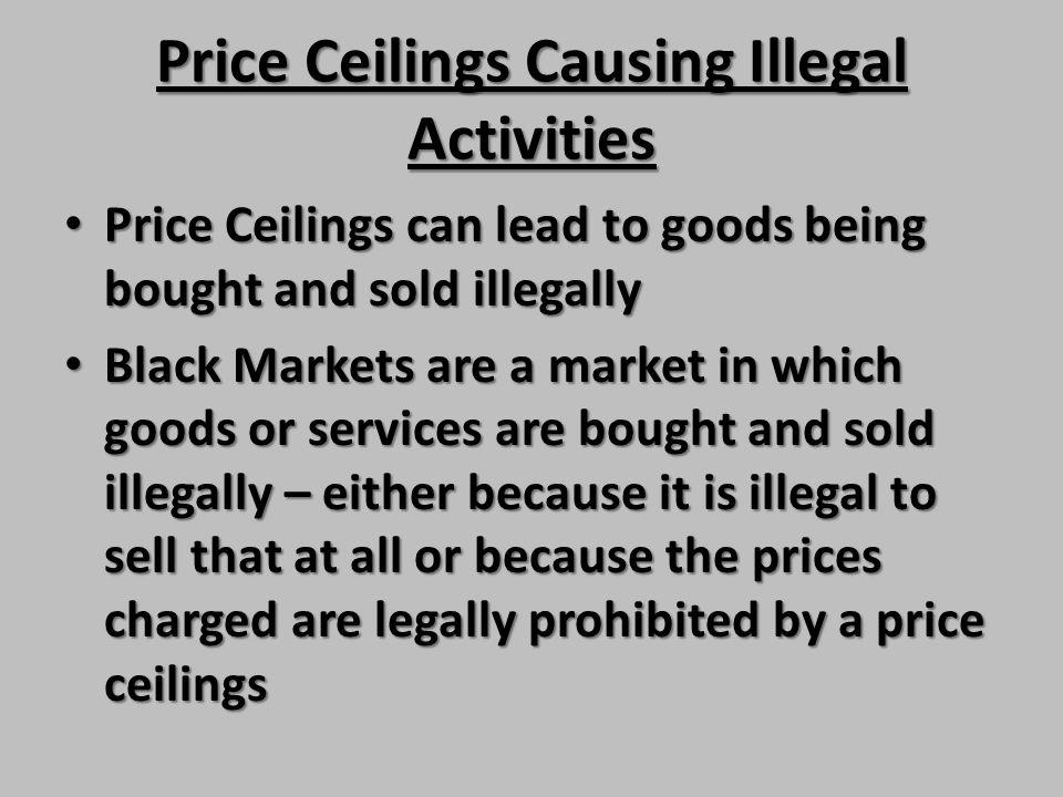 Price Ceilings Causing Illegal Activities