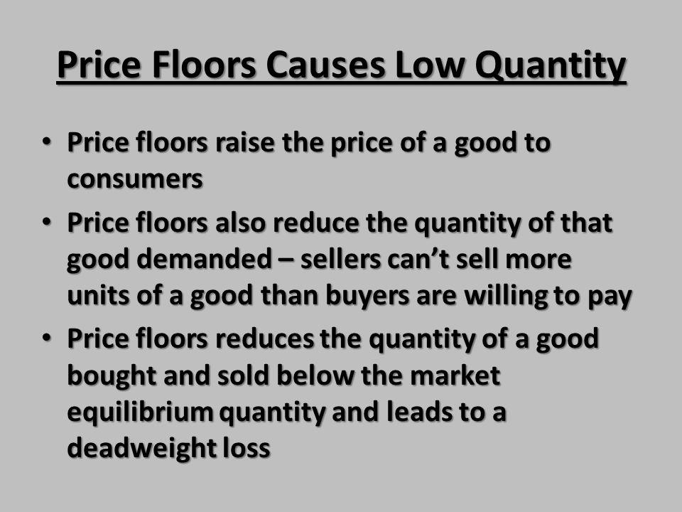 Price Floors Causes Low Quantity