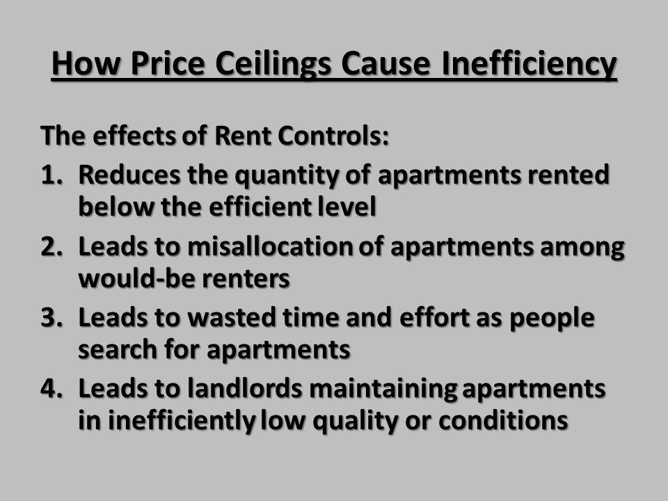 How Price Ceilings Cause Inefficiency