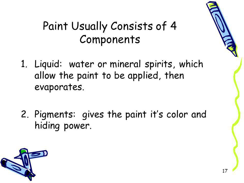 Paint Usually Consists of 4 Components