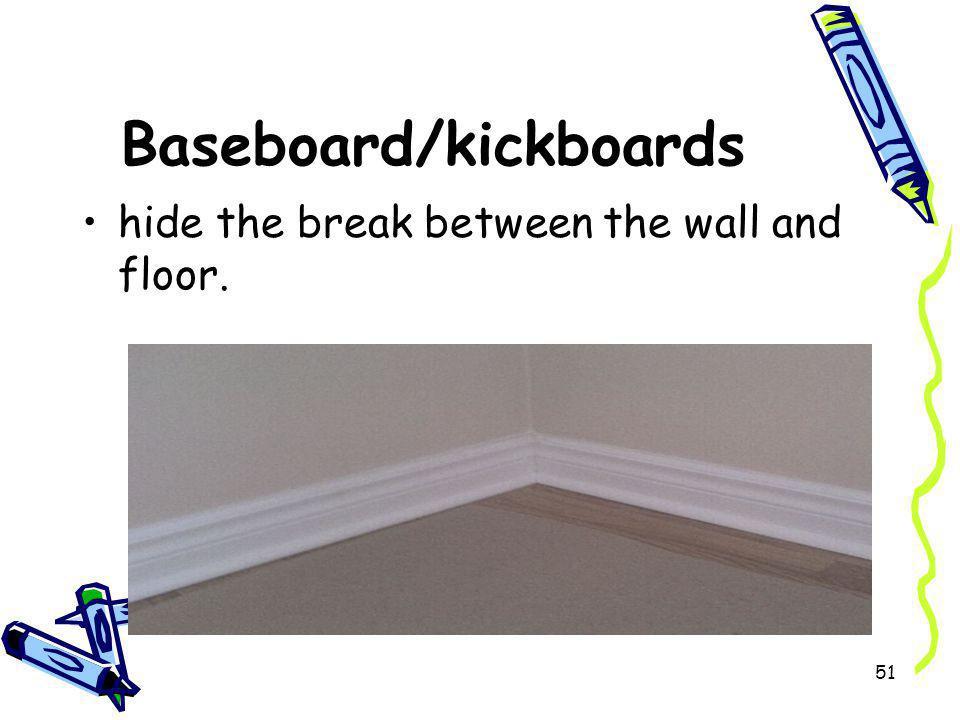 Baseboard/kickboards