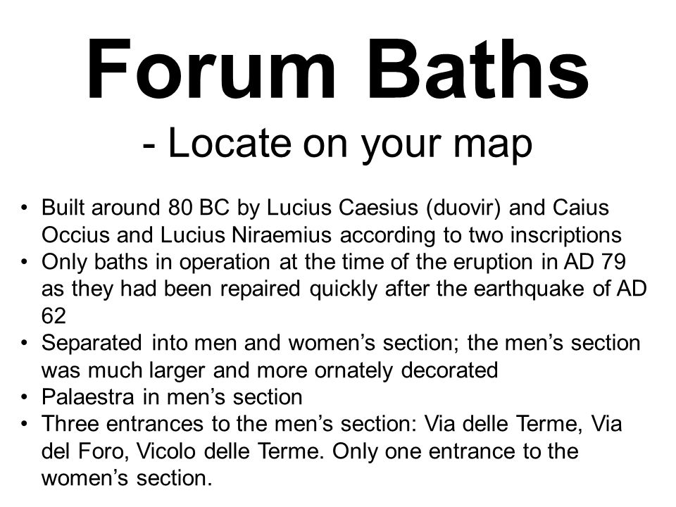 Forum Baths - Locate on your map