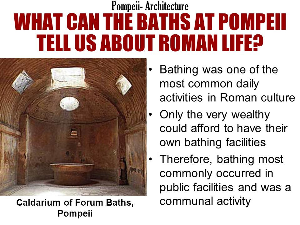 Caldarium of Forum Baths, Pompeii