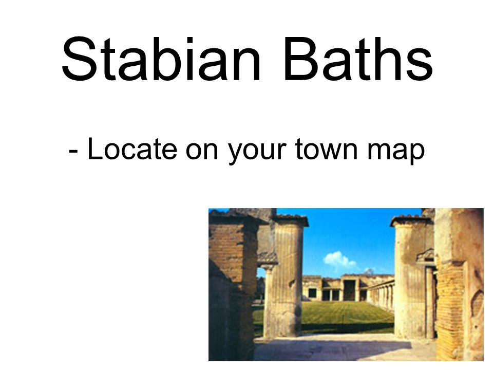 Stabian Baths - Locate on your town map