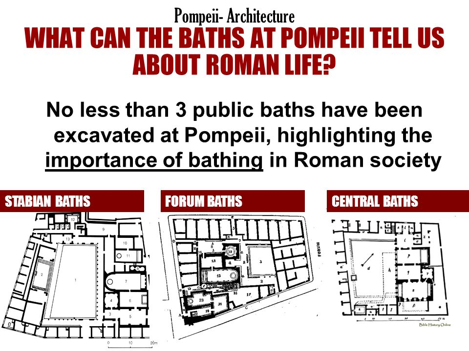 Pompeii- Architecture WHAT CAN THE BATHS AT POMPEII TELL US ABOUT ROMAN LIFE
