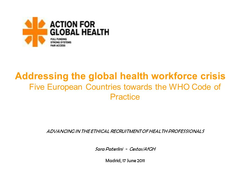 Addressing the global health workforce crisis