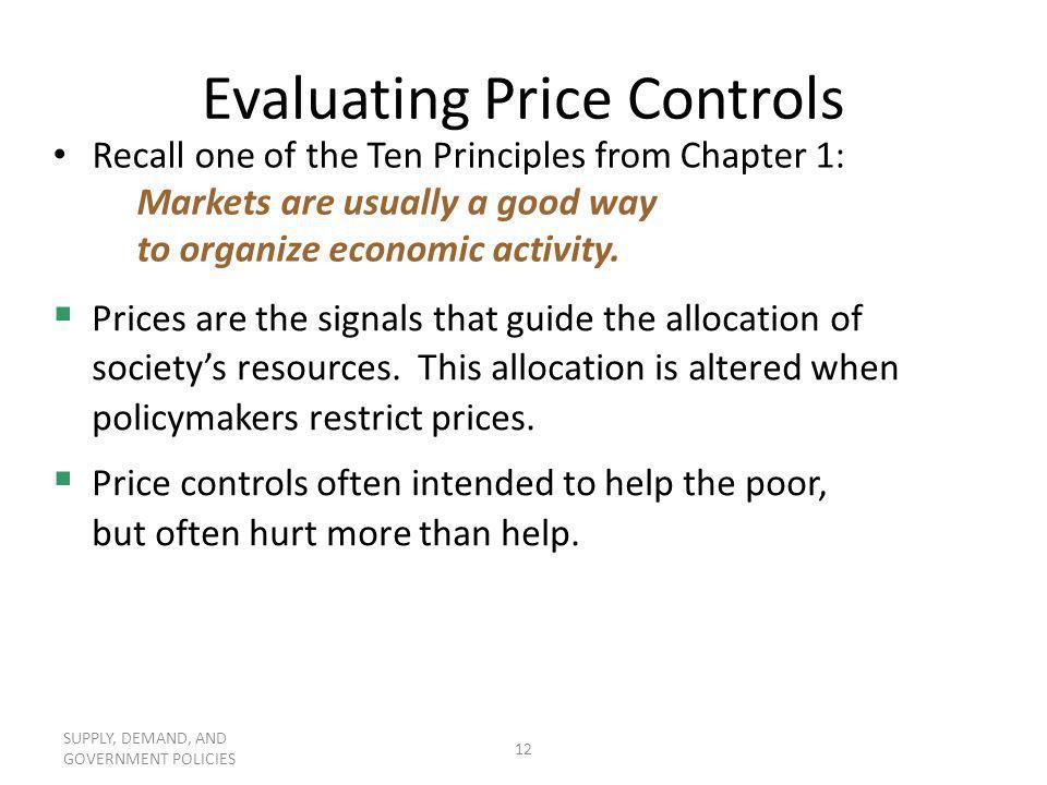 Evaluating Price Controls