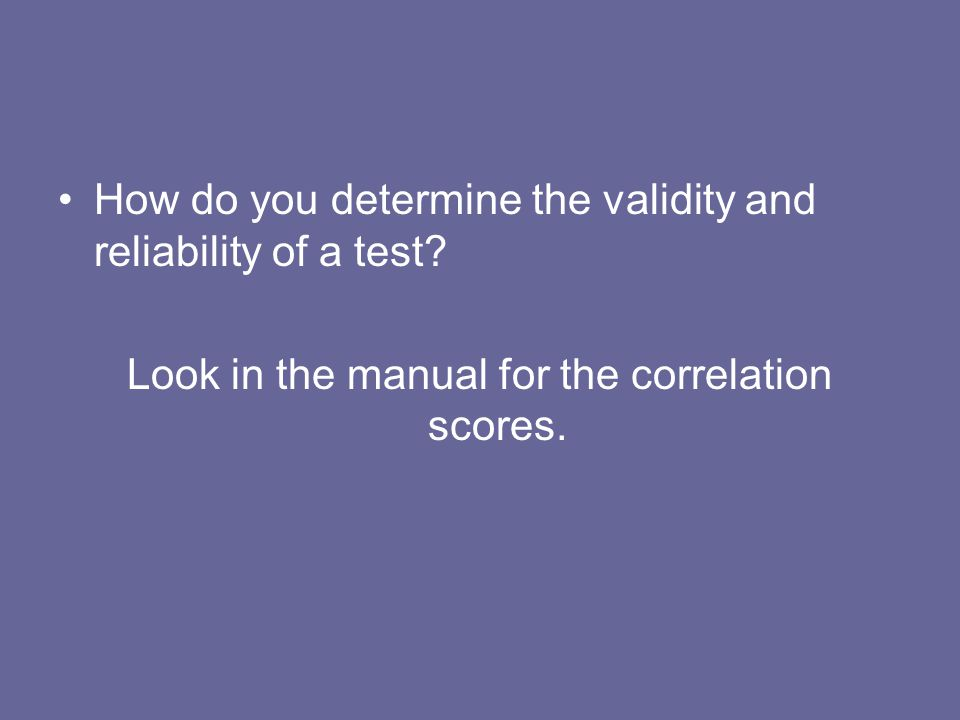 Look in the manual for the correlation scores.