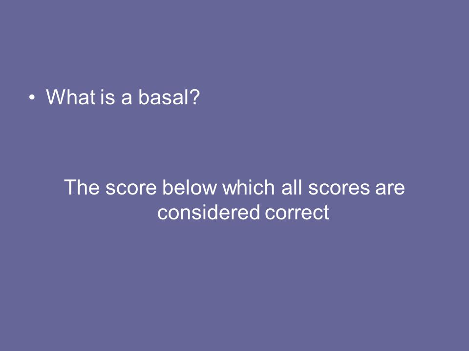 The score below which all scores are considered correct