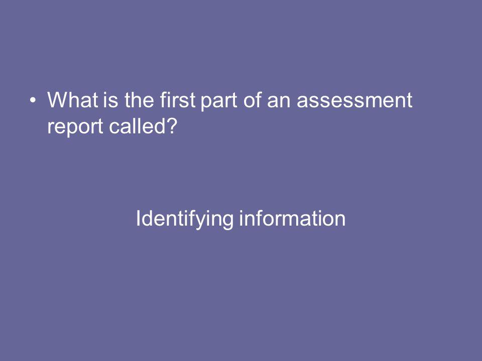 Identifying information