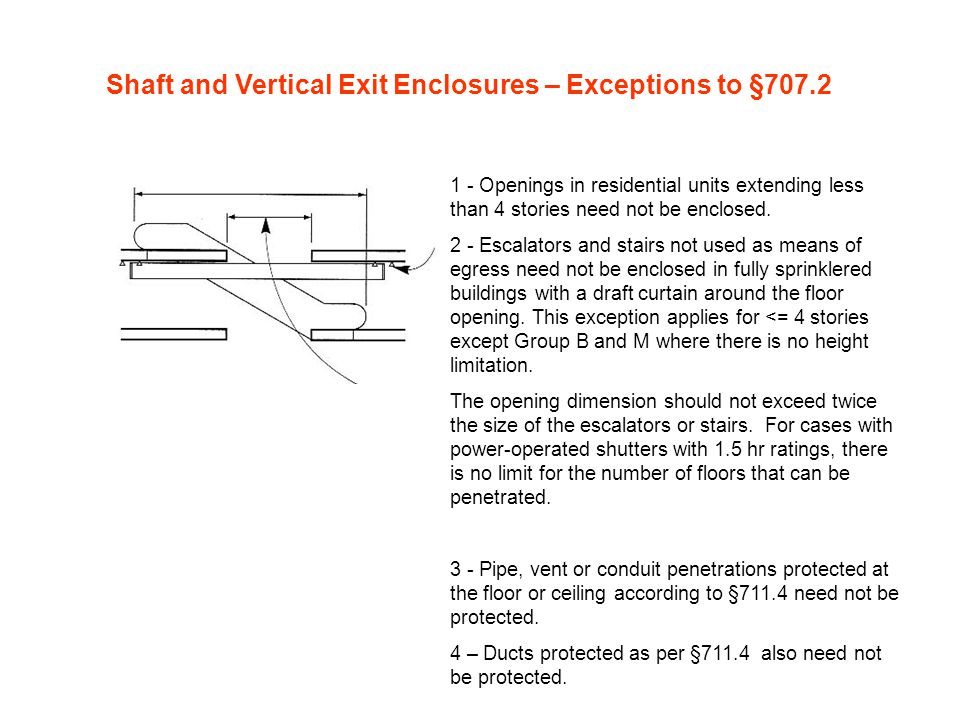 Shaft and Vertical Exit Enclosures – Exceptions to §707.2