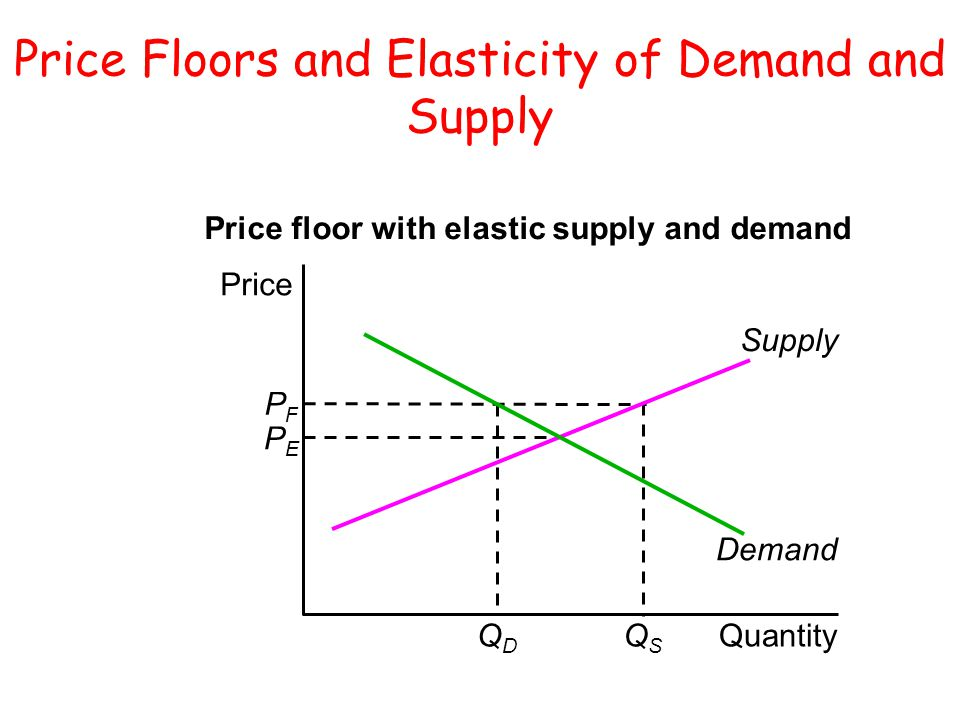 Price Floors and Elasticity of Demand and Supply