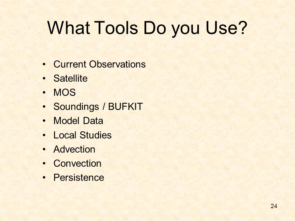What Tools Do you Use Current Observations Satellite MOS