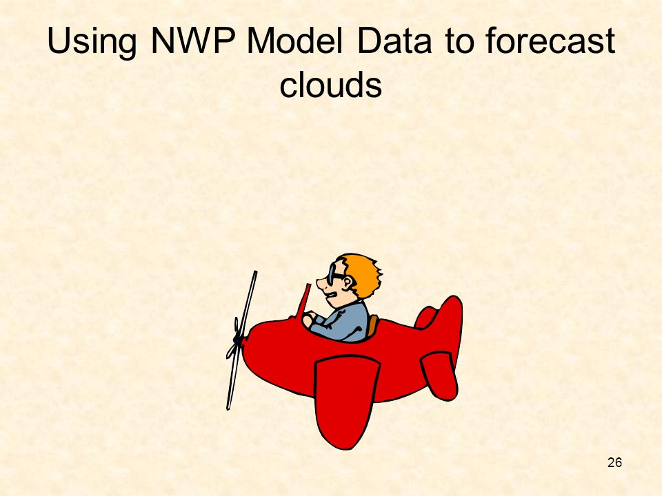 Using NWP Model Data to forecast clouds