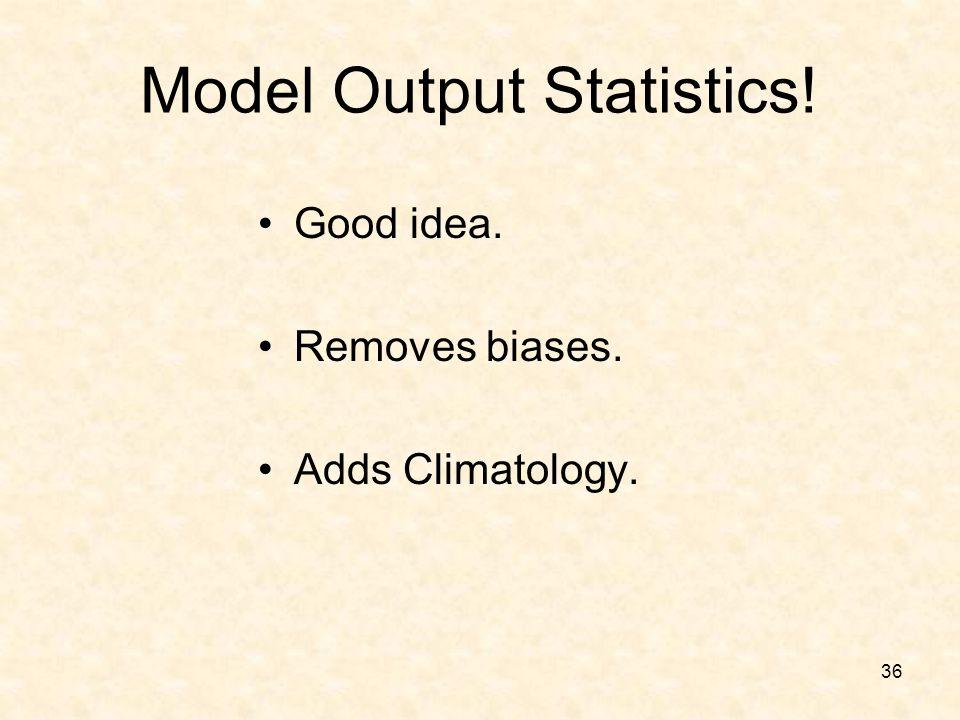 Model Output Statistics!