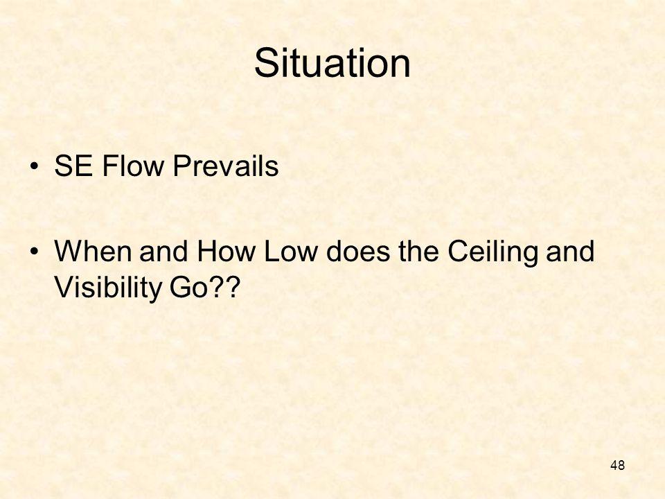 Situation SE Flow Prevails