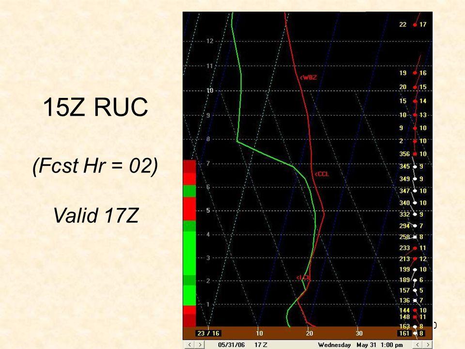 15Z RUC (Fcst Hr = 02) Valid 17Z RUC Model