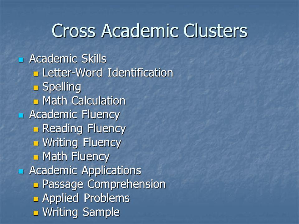 Cross Academic Clusters
