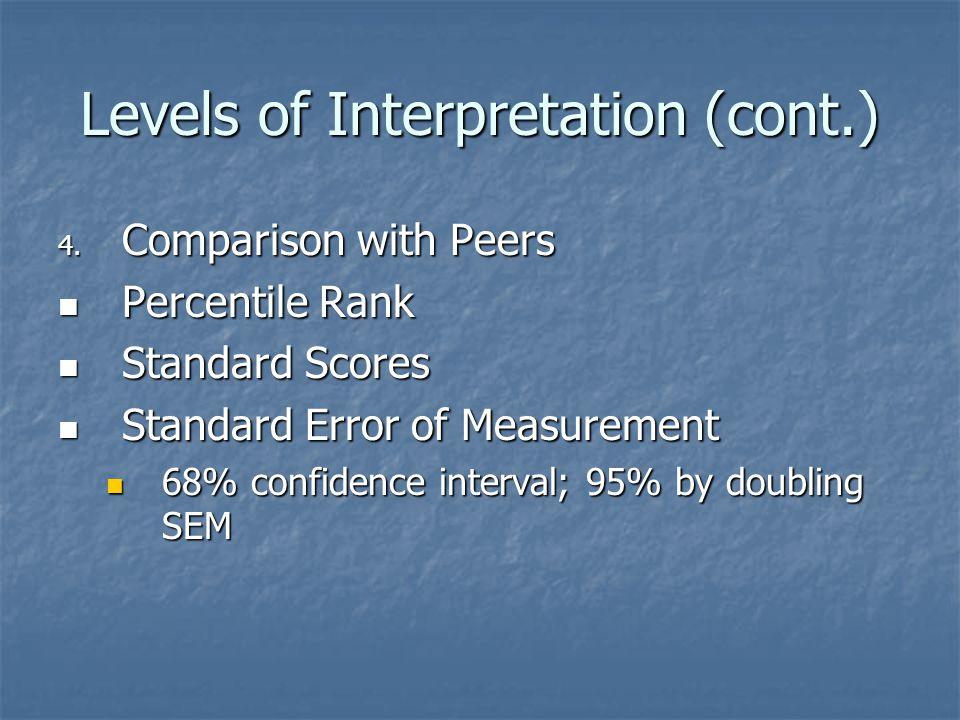 Levels of Interpretation (cont.)