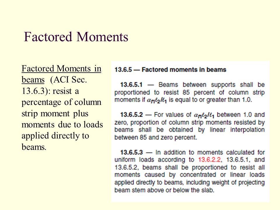 Factored Moments