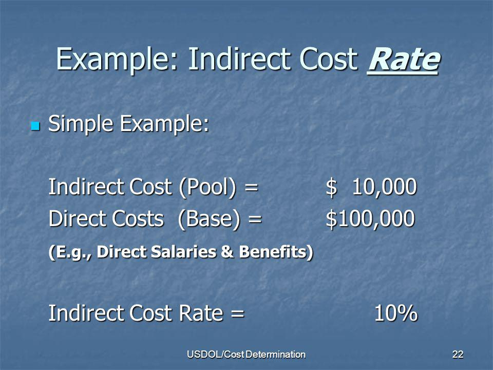 Example: Indirect Cost Rate
