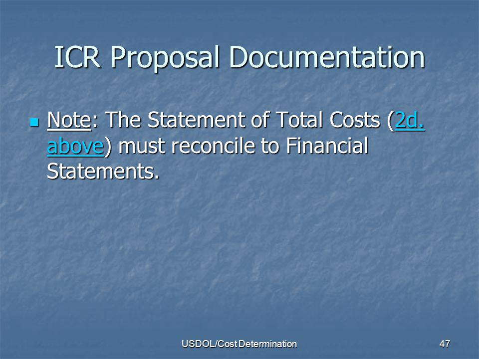 ICR Proposal Documentation