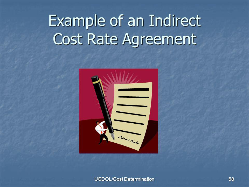 Example of an Indirect Cost Rate Agreement