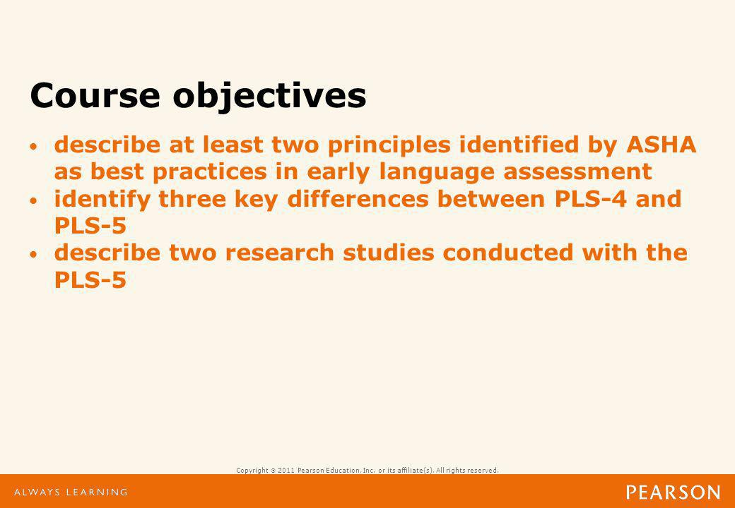 Preschool Language Scales-5 Assessing Children from Birth through 7