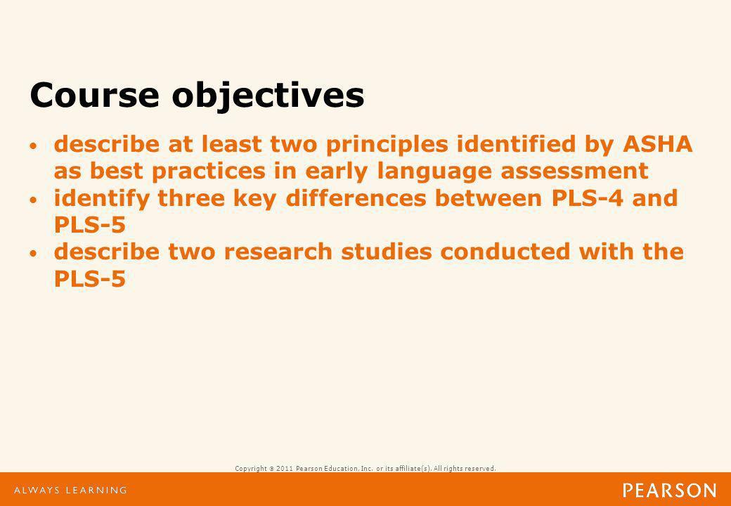 Preschool Language Scales-5 Assessing Children from Birth through 7