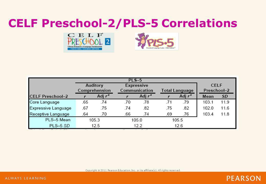 celf 5 preschool preschool language scales 5 assessing children from birth 969