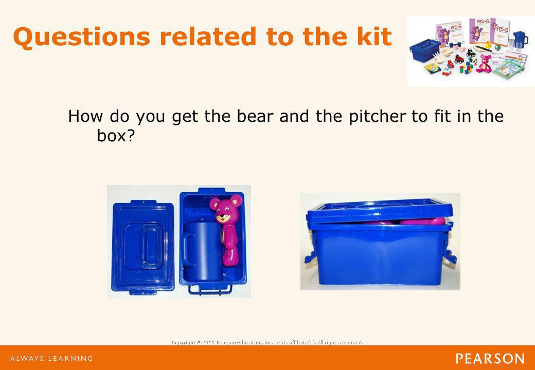Questions related to the kit