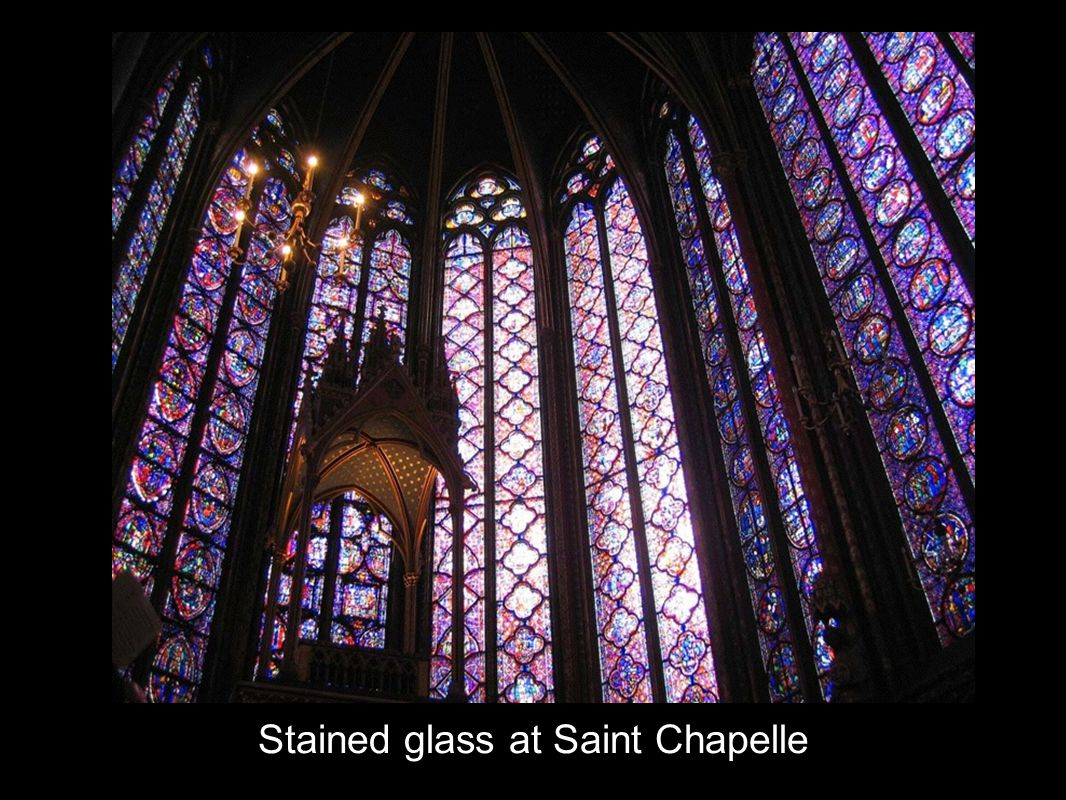 Stained glass at Saint Chapelle