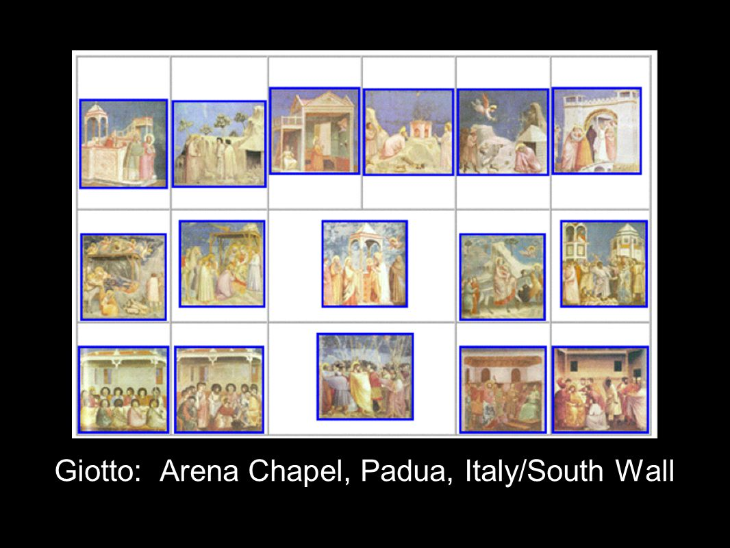 Giotto: Arena Chapel, Padua, Italy/South Wall
