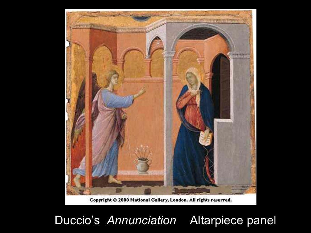 Duccio's Annunciation Altarpiece panel