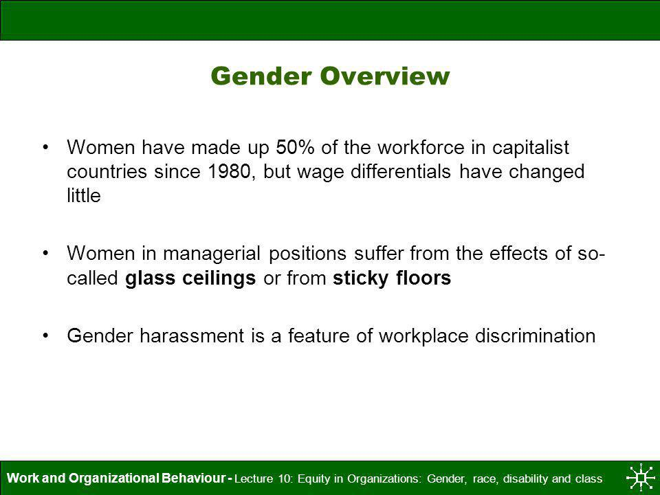 Gender Overview Women have made up 50% of the workforce in capitalist countries since 1980, but wage differentials have changed little.