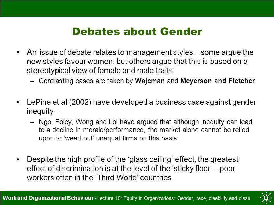 Debates about Gender