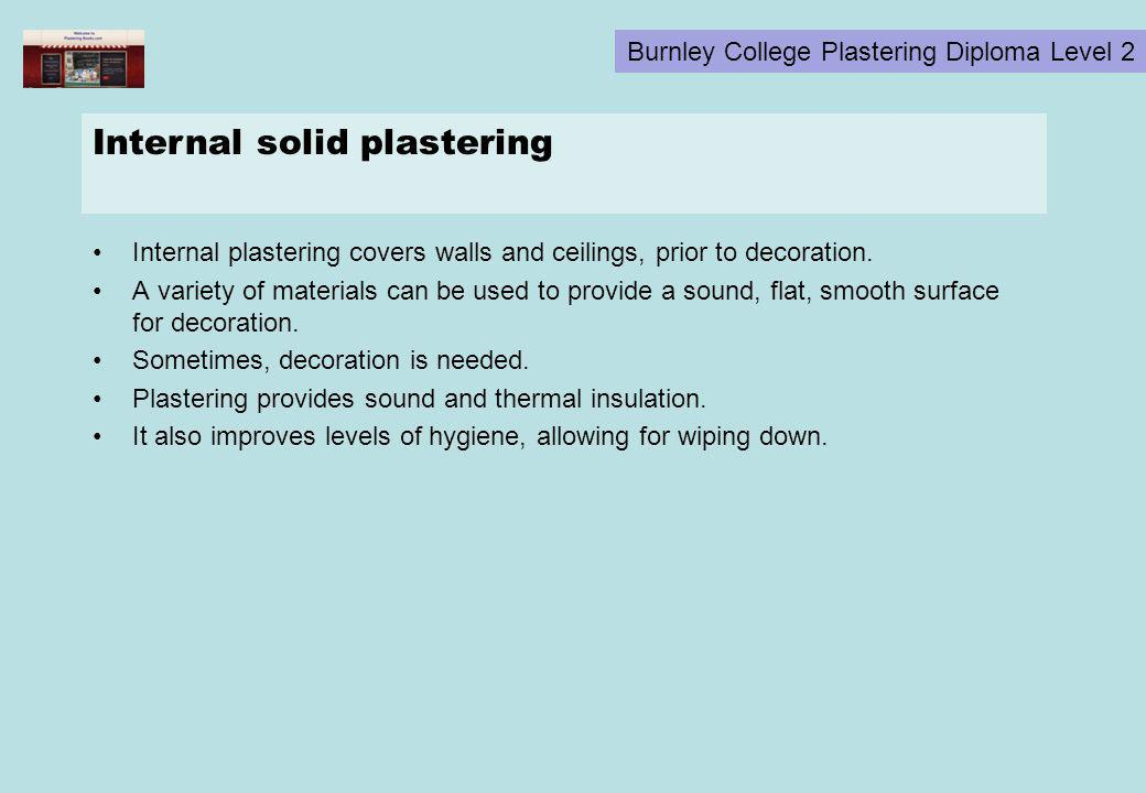 Internal solid plastering