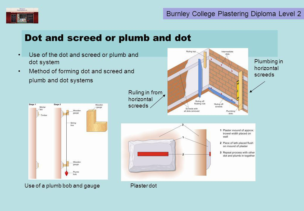 Dot and screed or plumb and dot