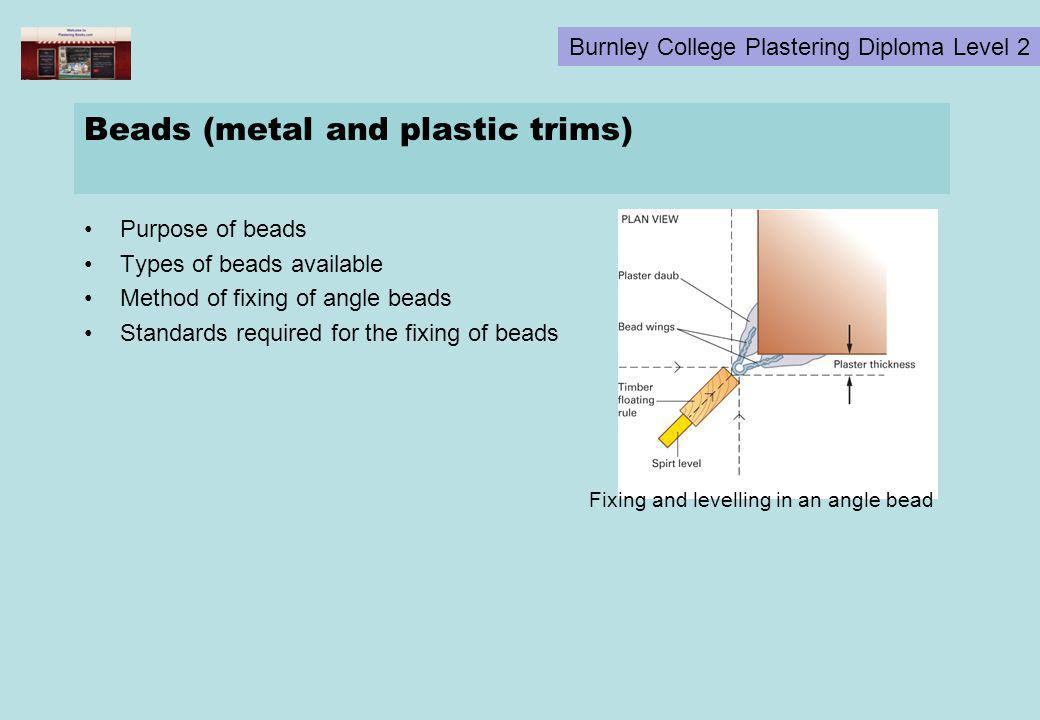 Beads (metal and plastic trims)