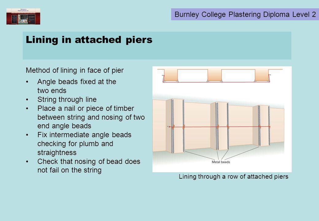 Lining in attached piers