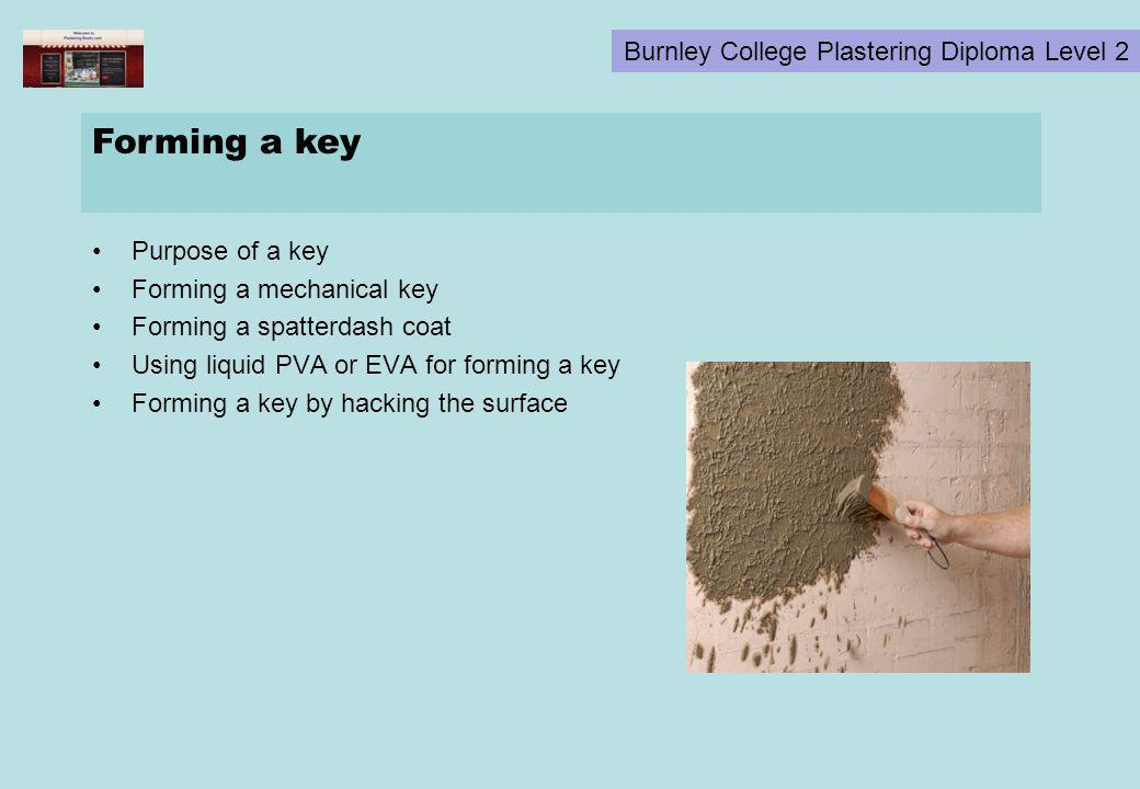 Forming a key Purpose of a key Forming a mechanical key
