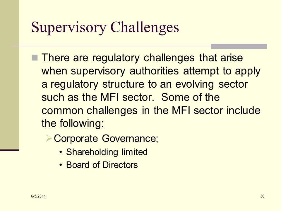 Supervisory Challenges